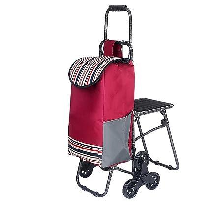 67ffbc2c8290 Amazon.com: HCC& Trolley Dolly Shopping Grocery Foldable Cart Climb ...