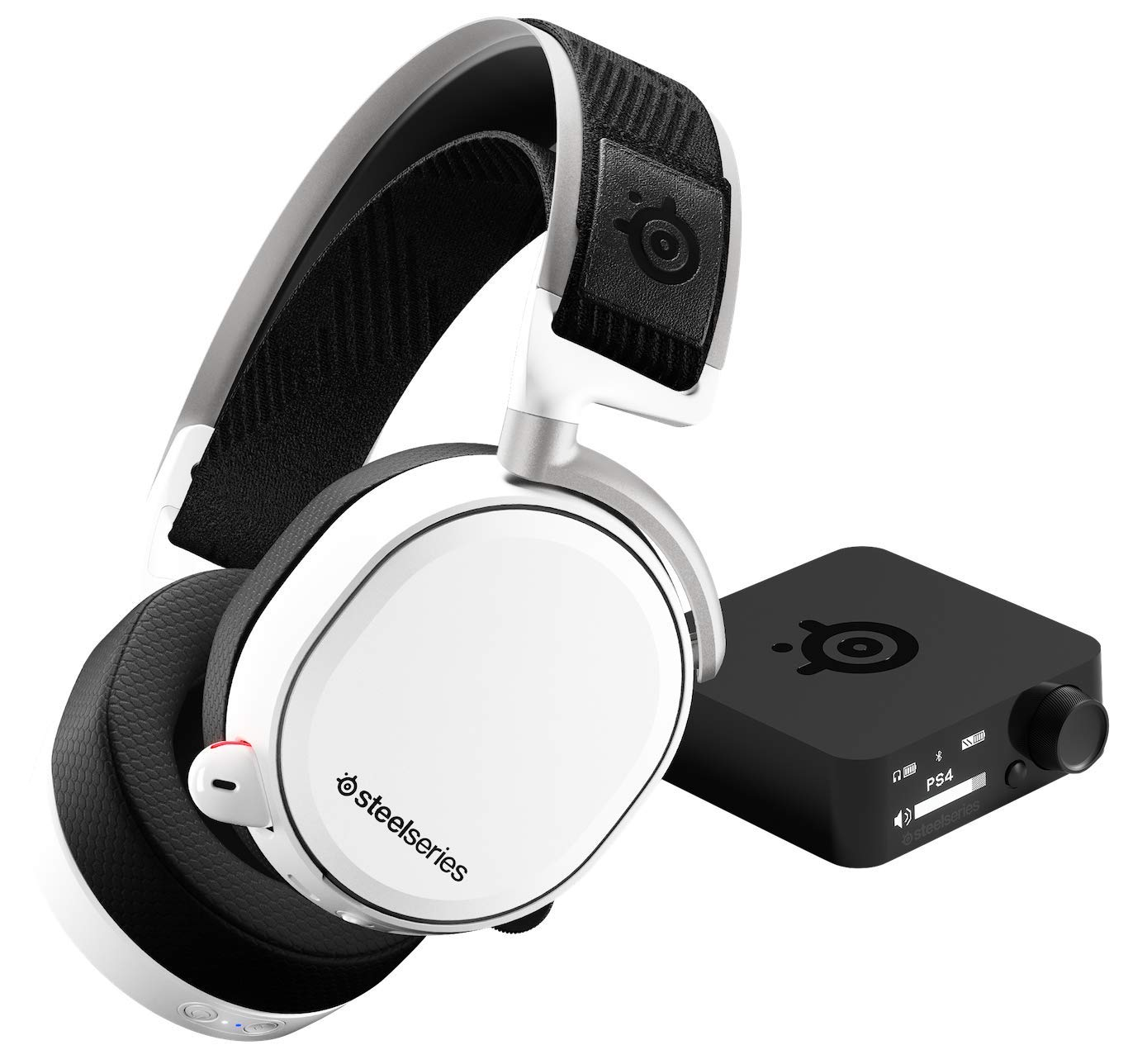 30cb637d681 SteelSeries Arctis Pro Wireless - Gaming Headset - Hi-Res Speaker Drivers -  Dual Wireless (2.4G & Bluetooth) - Dual Battery System - White:  Amazon.co.uk: PC ...