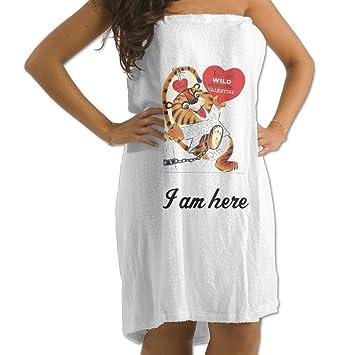 Valentine Tiger - Toalla de baño de algodón suave, ideal para el hogar, baño, piscina y gimnasio: Amazon.es: Hogar