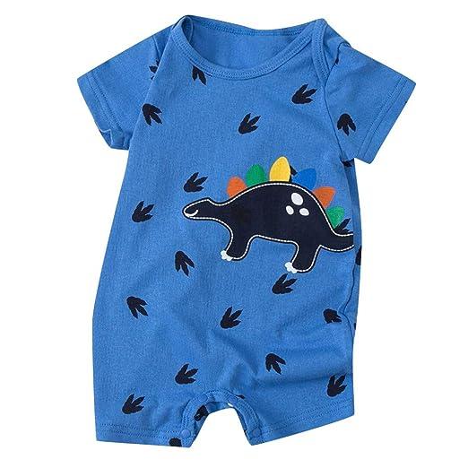 2f7f4f721a0ad Amazon.com: HANANei Newborn Baby Boy Girls Romper Cartoon Striped ...