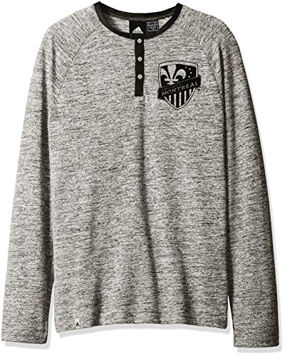 fan products of MLS Impact Montreal Adult Men Henley L/S Lifestyle Top,Large,Gray