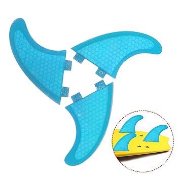 Lixada Tabla De Surf Aletas En Forma De Panal De Fibra De Vidrio Surf Junta Aletas G3 / G5 / G7 Surf Aletas Surf Hélice: Amazon.es: Deportes y aire libre