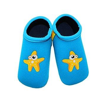 ZEEUPAI Calcetines antideslizante de natación para bébe niña niño en piscina, playa, parque acuático (Azul, 13.5cm): Amazon.es: Deportes y aire libre