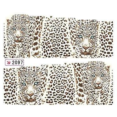 leopard print nail decals - 5