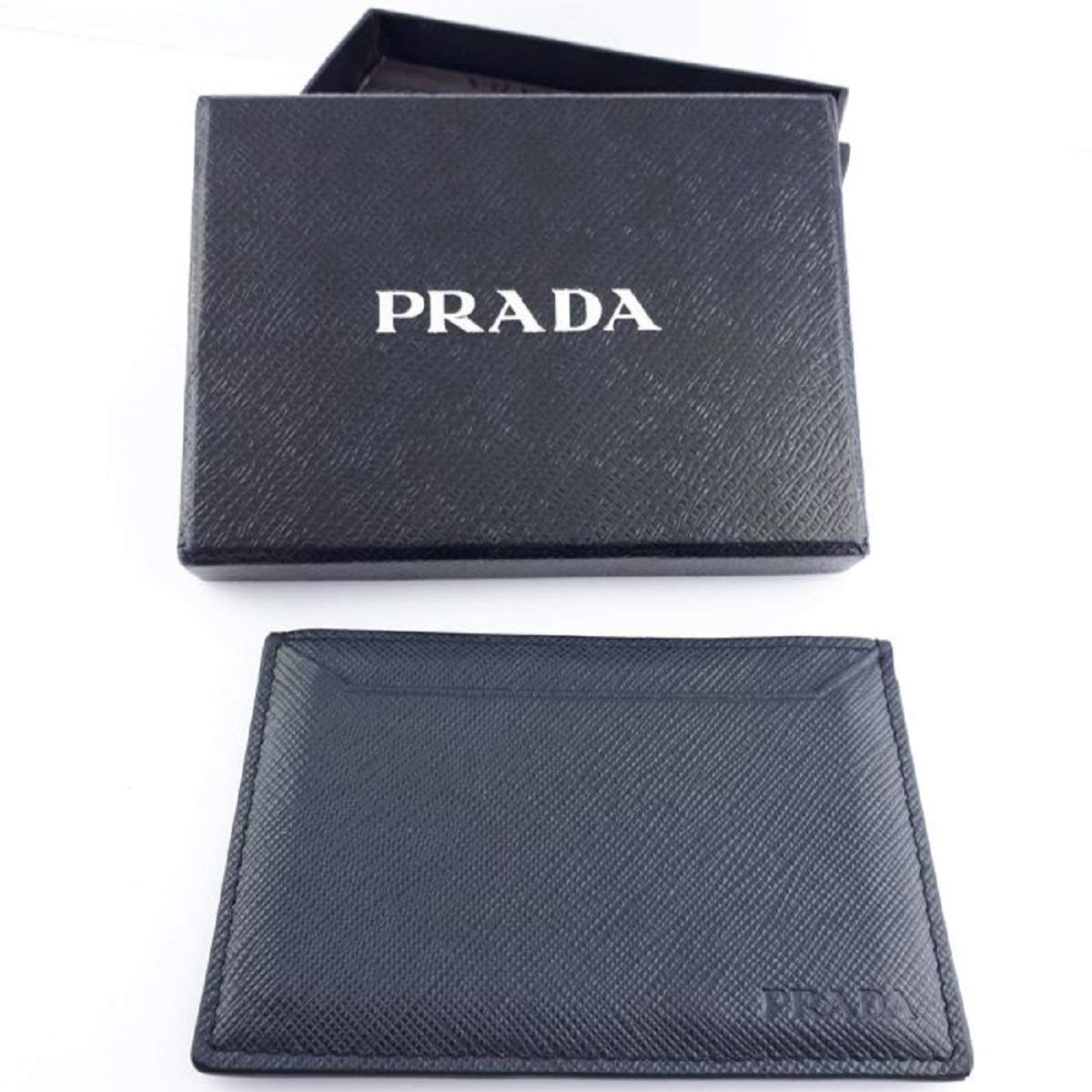 321ba3737eb0 Prada Baltico Navy Saffiano Men's Leather Wallet Credit Card Holder Case  Bill 2MC208 at Amazon Men's Clothing store: