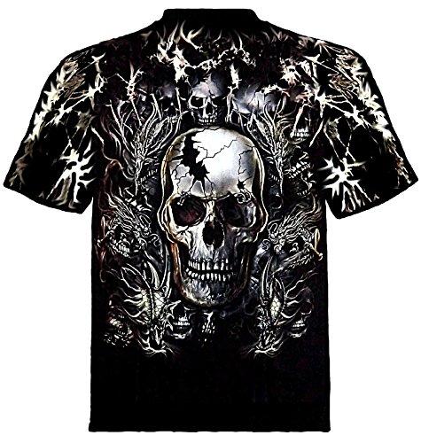 Nieten/Batik Shirt TOTENSCHÄDEL