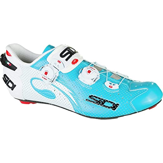 Amazon.com: Sidi Wire Carbon Air Cycling Shoe - Mens Sky Blue/White, 40.0: Shoes