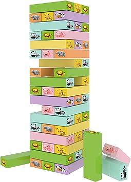 Mejores Juguetes Clásicos Educativos Diversión Familiar para Niños – Juego de Torre de Bloques Educativos - 54 Unidades Idea para Regalo: Amazon.es: Juguetes y juegos