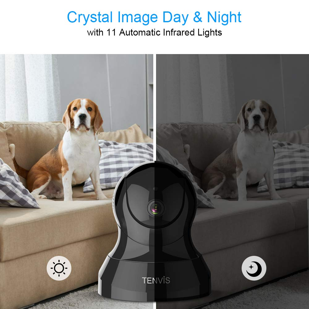 Pet Camera - TENVIS IP Camera, Wireless Security Camera for Pet/Baby Monitoring with 32 FT Night Vision Range, Two-Way Audio and Motion Detection, Indoor Dome Camera with iOS, Android App by TENVIS (Image #3)