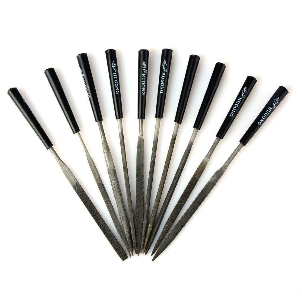10-teiliges Nadelfeilen-Set, Feilen fü r Metall, Glas, Stein, Schmuck, Holz, Handarbeitswerkzeug Pavementof
