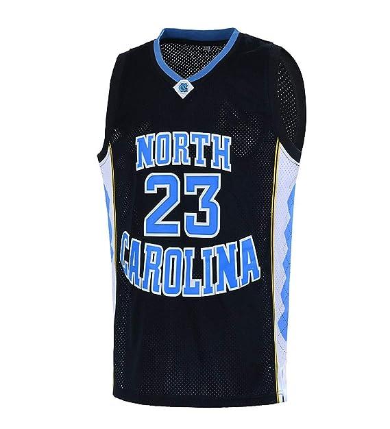 newest ed626 bf58a Ausimiar Mens 23# North Carolina Basketball Jersey Retro Jersey Blue S-XXL