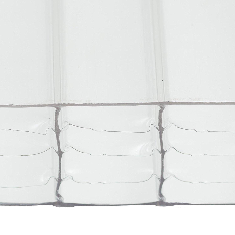 Panel de techo de plástico de policarbonato transparente de 35 mm ...