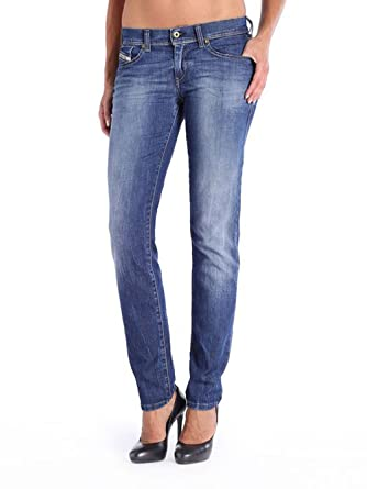 09812710cec788 Diesel Francy 0836X Stretch Damen Jeans Hose Relaxed Skinny (W26/L30, Blau)