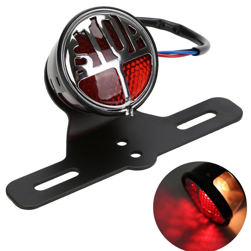 ECLEAR Motorrad Rücklicht LED Blinker Kennzeichenbeleuchtung 3in1 ...
