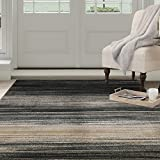 Bedford Home Opus Dark Abstract Stripes Area Rug, 5'3″ x 7'7″, Blue