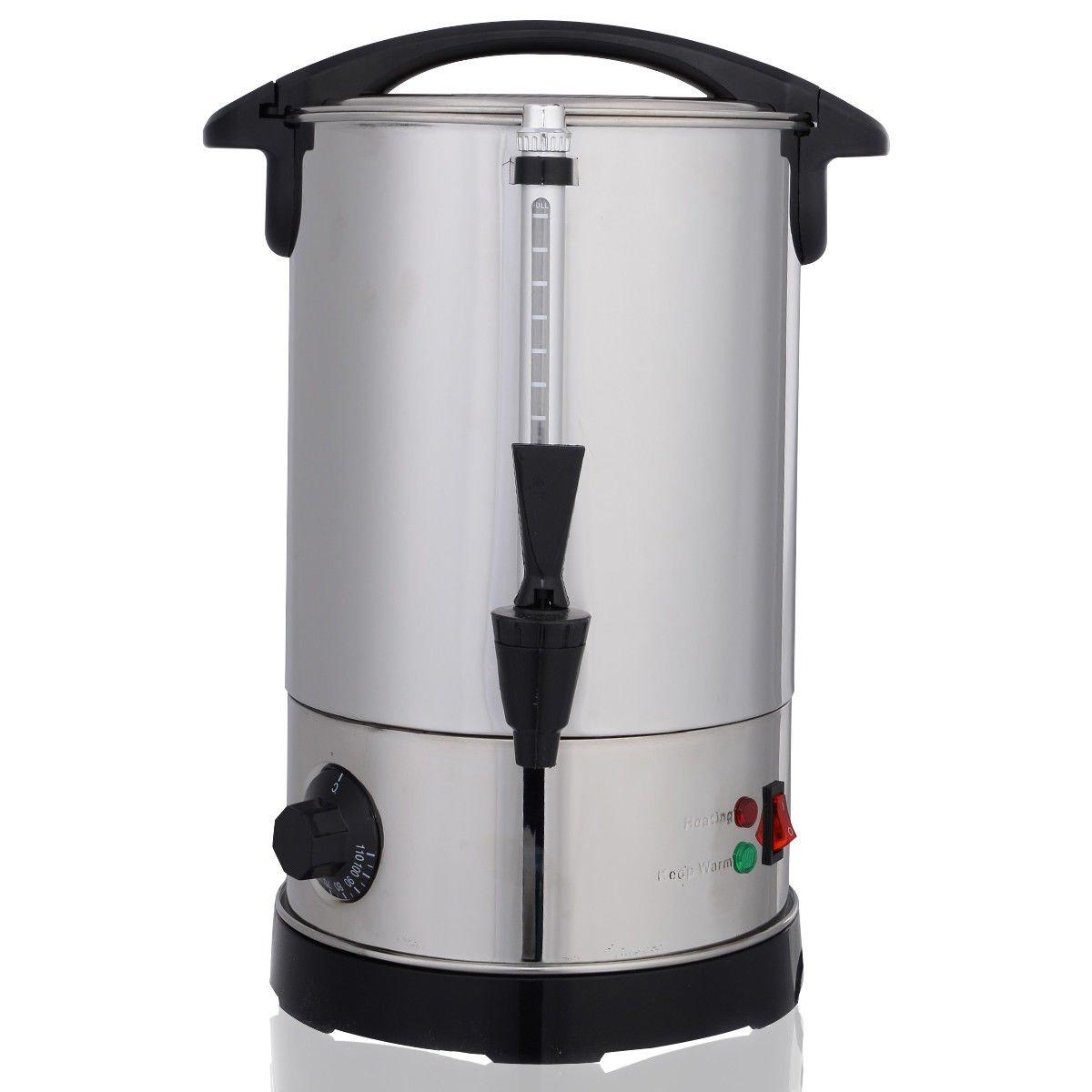 lunanice Stainless Steel 6 Quart Electric Water Boiler Warmer Hot Water Kettle Dispenser