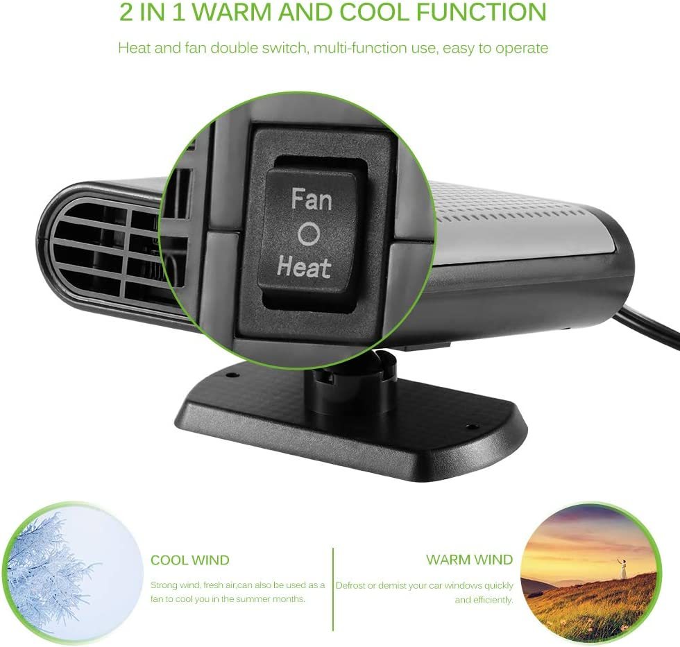 12V 150W Car Winter Windscreen Window Defroster Demister Air Blower Sunsbell Portable Car Heater Defroster Heating Quickly Low Noise
