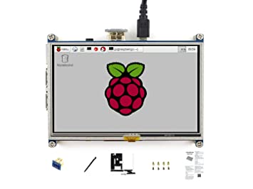 Waveshare 5 Inch HDMI LCD 800 * 480 High Resolution With Bicolor Bracket  Case for Raspberry Pi 2 Model B/Raspberry Pi Model B/B/A/Raspberry Pi 3  Model