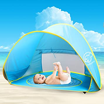 Nequare Pop Up Tent Baby Beach pool Sun Shelter UV Protection Beach shade for Baby and & Amazon.com: Nequare Pop Up Tent Baby Beach pool Sun Shelter UV ...