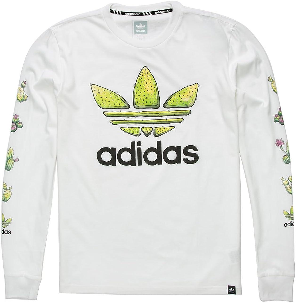 adidas Skateboarding para Hombre Cactus Camiseta de Manga Larga - 29682415005, Blanco: Amazon.es: Deportes y aire libre