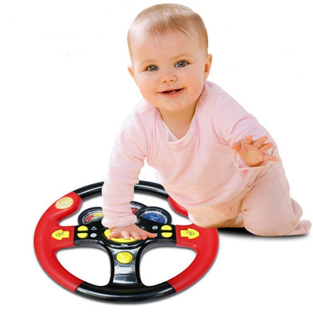 Hemore Children's Steering Wheel Toy Baby Childhood Educational Driving Simulation Baby Products Health Baby Care