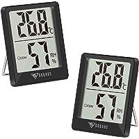 DOQAUS 2 Piezas Mini Termómetro Higrómetro Digital, Medidor de Temperatura con 5s de Respuesta Rápida para Temperatura y…