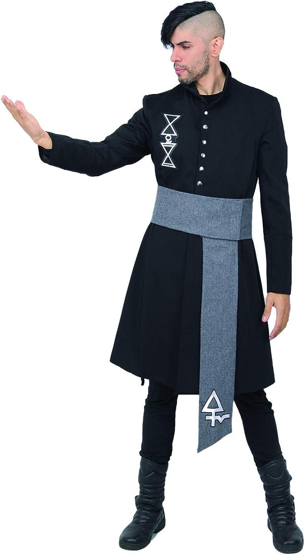 Nameless Ghoul Cosplay Costume Black Coat Props Halloween Xcoser Men Ghost B.C