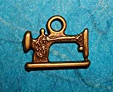 Bronze Sewing Machine Charm Tailor Seamstress Quilt Maker Sew Crafts Designer