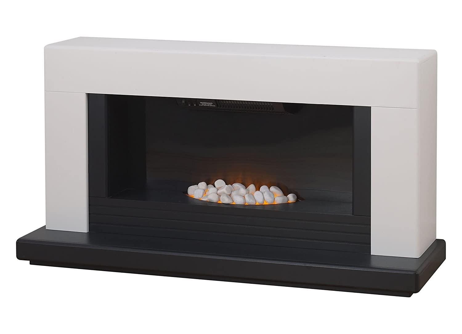 adam carrera white and black electric fireplace suite 2000 watt