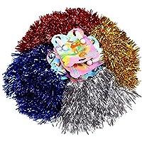 S/O® Set di pompon da cheerleader, 12 pezzi (6 confezioni da 2 pezzi)