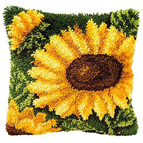 Latch Hook Bear Pillow (Vervaco Sunflowers Latch Hook Kit)