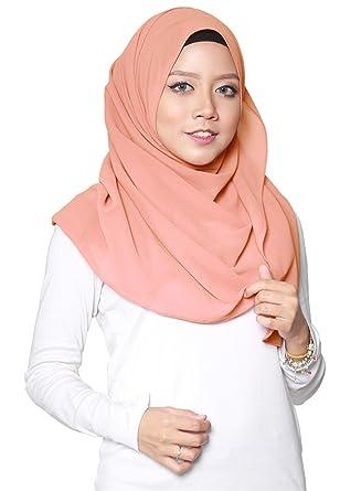 SAFIYA - Hijab pour femmes musulmanes voilées I Foulard voile turban  écharpe châle islamique I Mousseline 9de9fd36425