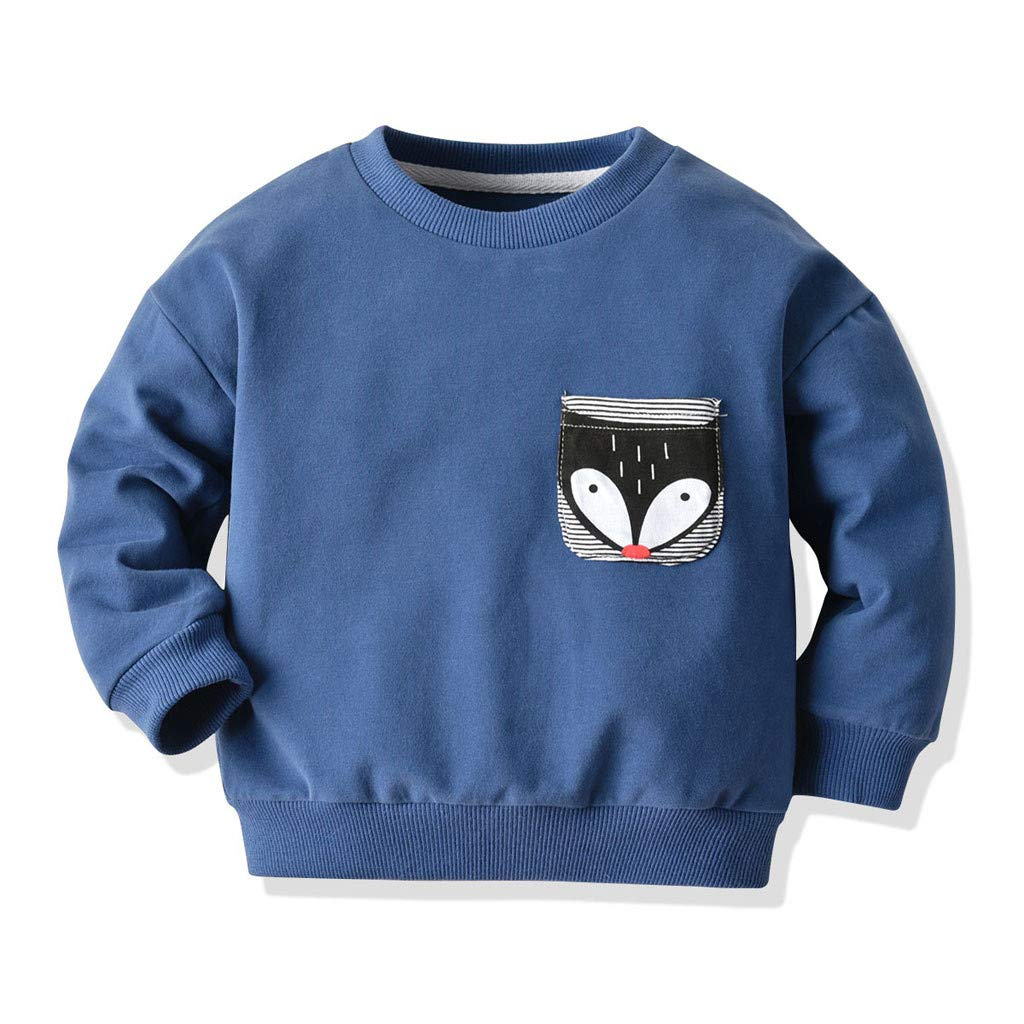 LijunMimo HerbstWarm Baby Jungs M/ädchen Sweatshirt Zur Seite Fahren Tops Outfits O-Ausschnitt Lange /Ärmel Tees Hemden Oberteile Kleider