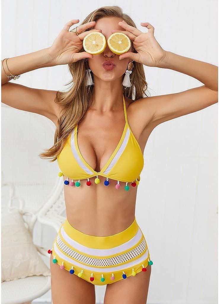 Bikini Cantantes Mujeres Brasileños Sexy Mujer Push Up Bañadores Biquinis Bikinis Mujer 2019 Braga Alta Sexy Bikini Set Halter Push Up Bikini Traje de baño Dividido Bañador Mujer: Amazon.es: Ropa y accesorios