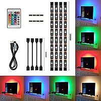 Tiras LED de Luz TV, SMD 5050 RGB 20 Modo de Color 4 * 50cm USB LED luz de tira con DC…