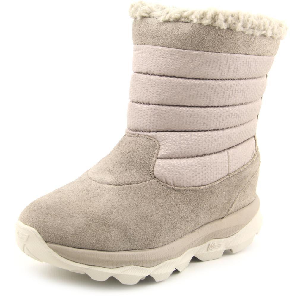 Skechers Women GOdri Ultra Bounce Waterproof Winter Boot Shoe B00PR6H4XS 6 M US|Natural