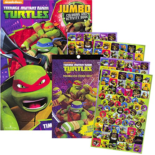 Turtle Activity Book - TMNT Teenage Mutant Ninja Turtles Coloring & Activity Book with Stickers ~ Over 270 Stickers!