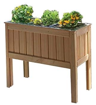 Gartenpirat Hochbeet Krauterbeet Aus Larchenholz 100x37x80 Cm