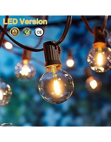 Guirnaldas luminosas de exterior,[Versión actualizada] OxyLED G40 25ft Luces de la secuencia