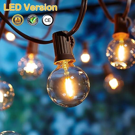 OxyLED LED Garten Lichterketten Außen,[LED Version] Gartenterrasse außerhalb der Lichterketten,wasserdichte Innen/Außen-Licht
