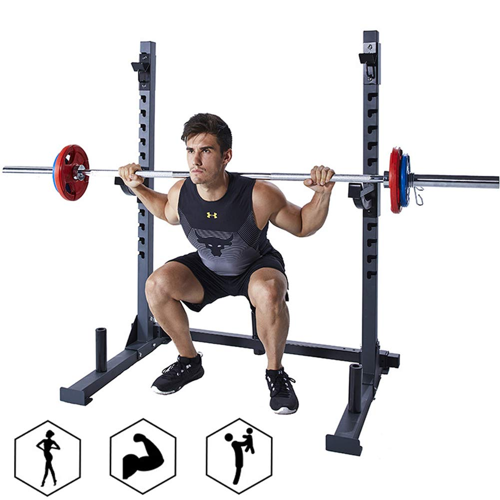 EFGS Adjustable Squat Rack Household, Sturdy Durable Barbell Stand, Multifunction Household Bench Press by EFGS