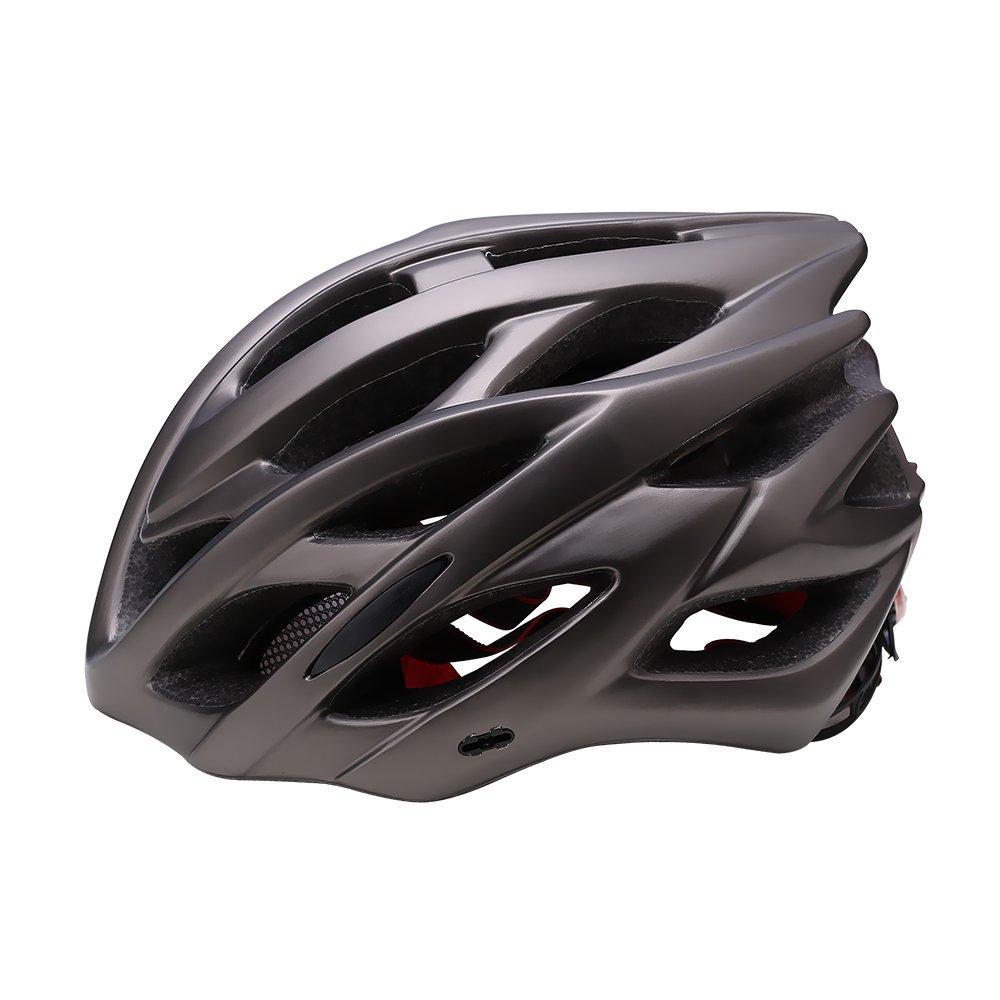TOPQSC Fahrradhelm EPS Fahrrad Helm Bike Helm Outdoors Erwachsene Radhelm Schwarz