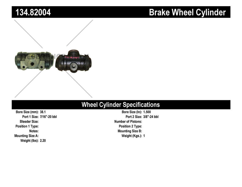Centric Parts 134.82004 Drum Brake Wheel Cylinder