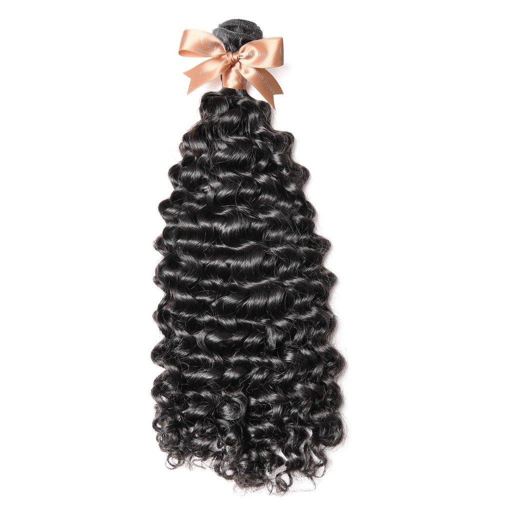 "GoldRose Beauty Grade 7A Curly Wave Brazilian Virgin Human Hair 100% Unprocessed 1 Bundle 100g Natural Color 18"""