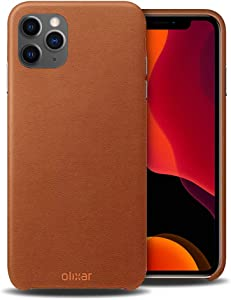 Olixar for iPhone 11 Pro Genuine Leather Case - Saddle Brown - Back Protective Cover - Premium Slim Design - Wireless Charging Compatible