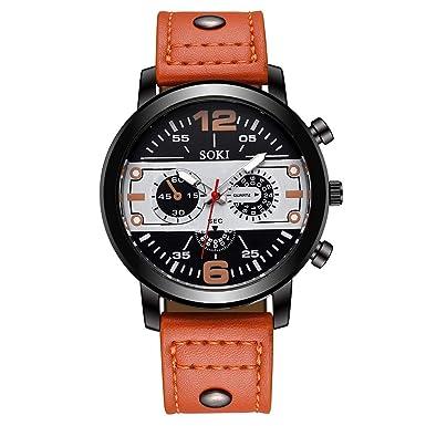 POJIETT Relojes Hombre Caballero de Marca en Oferta Relojes Deportivos Reloj Pulsera de Cuarzo Negro Reloj Quartz Analogico Hombre Reloj Militar Joya ...