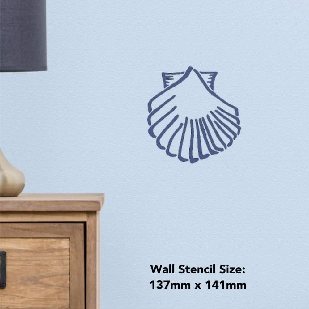 WS00016003 Azeeda Grand A2 Coquillage Pochoir Mural
