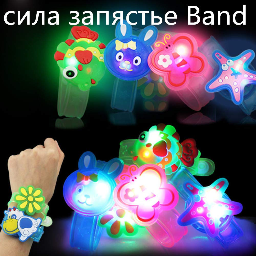 Wenini Kids Light Flash Toys Cartoon Animals Wrist Hand Take Dance Party Dinner Party Decor for Kids Gift Random (Random) by Wenini (Image #2)