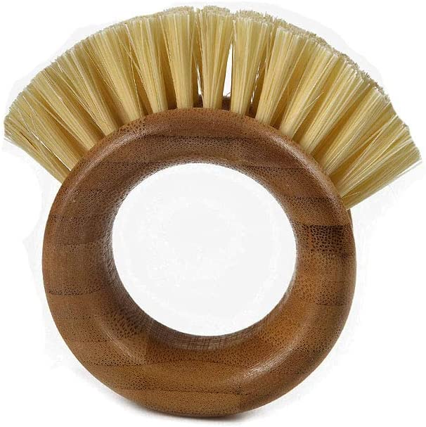 Brown Full Circle Fruit and Vegetable Cleaning Brush