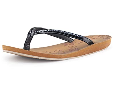 093aabf6567c Women s Rhinestone Thong Flip Flops w  Arch Support by RockDove Black 5 B(M
